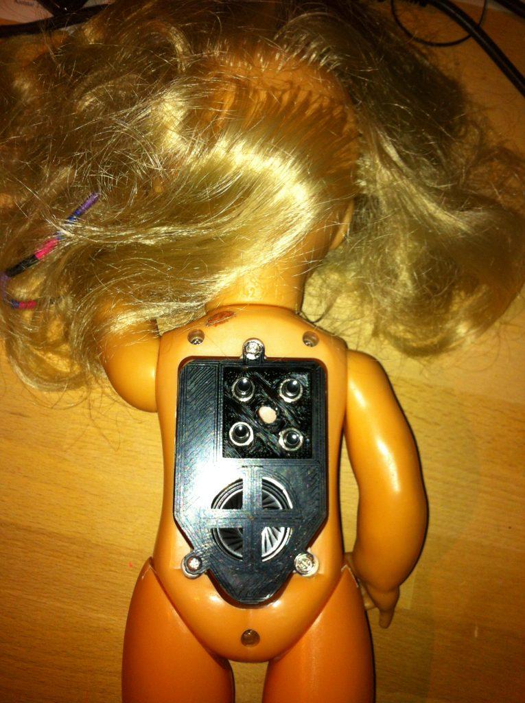 3D-Druck Beispiele, Puppe mit neuem Soundmodul