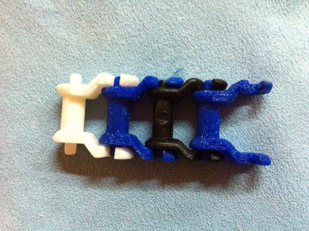 3D-Druck Ersatzteile: Kette aus einzel gedruckten Gliedern
